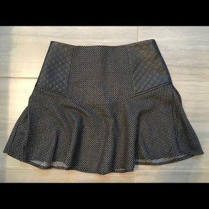 BCBG black leather quilt mini skirt - never worn!!